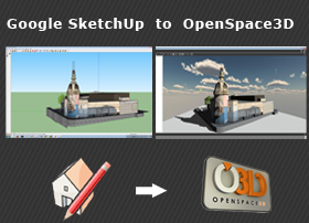 Use Sketchup models in OpenSpace3D